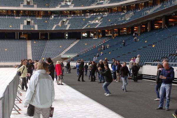 Nu fick allmänheten för första gången komma in i arenan.