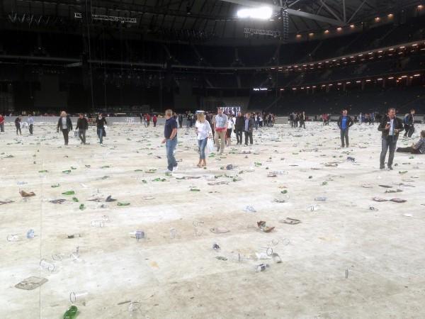 Efter spelningen Bruce Springsteen Friends Arena