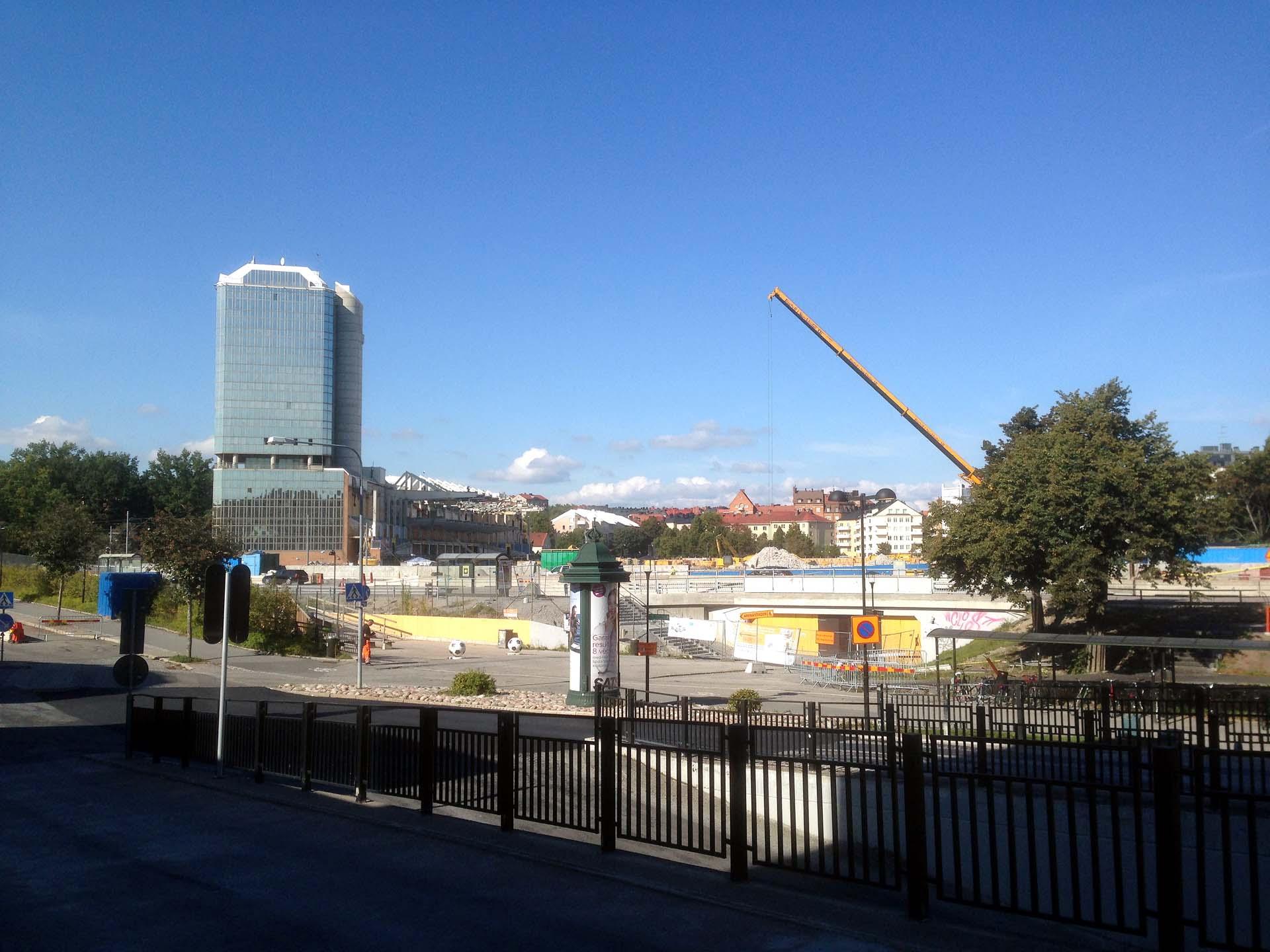 Utsikt från Solna Centrum